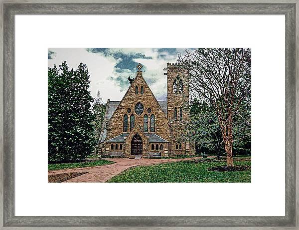 Chapel At University Of Virginia Framed Print