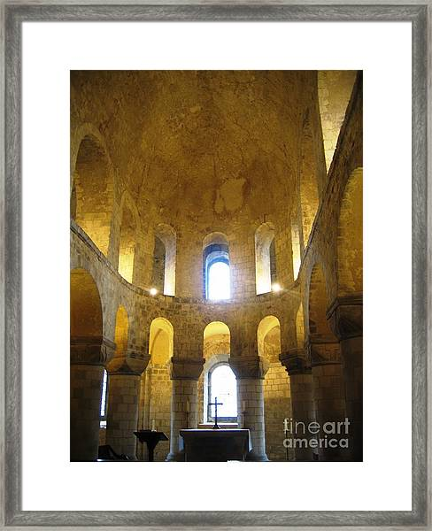 Chapel Glow Framed Print