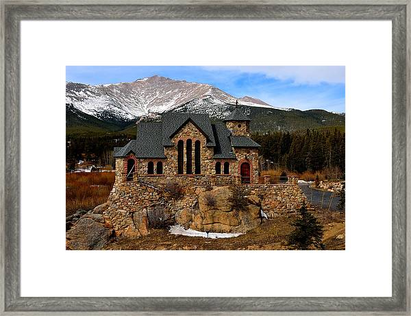Chapel On The Rocks Framed Print