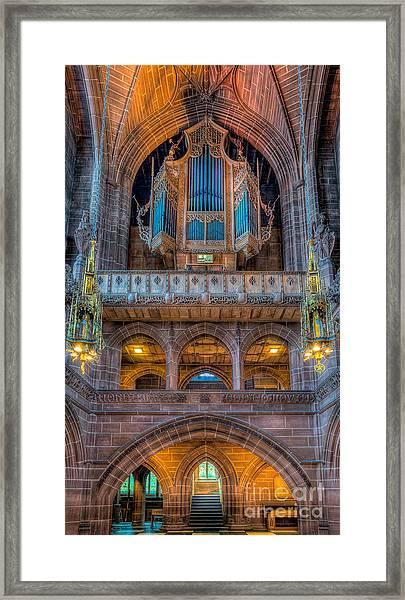 Chapel Organ Framed Print