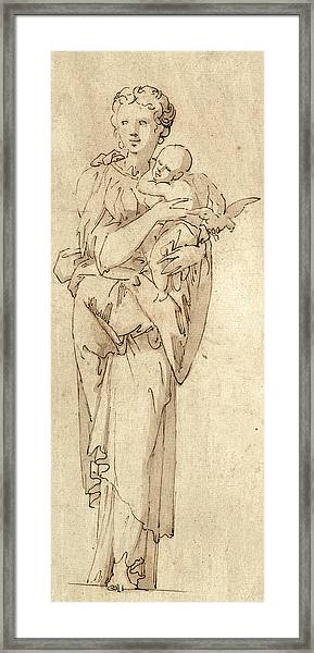 Charity Or The Virgin And Child Framed Print