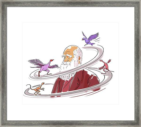 Charles Darwin Framed Print by Harald Ritsch