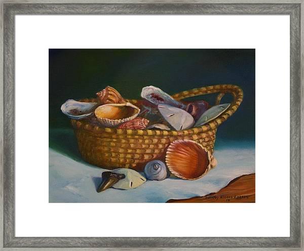 Charleston Basket Framed Print