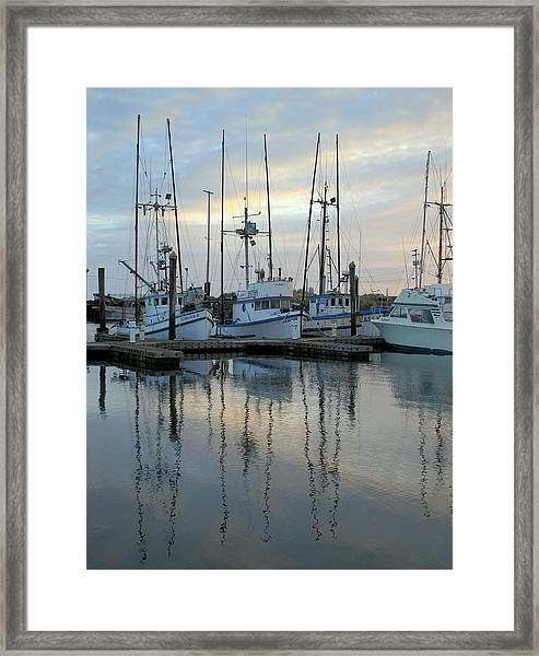 Charleston Boats Framed Print