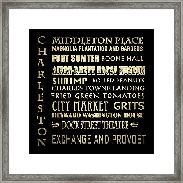 Charleston Sc Famous Landmarks Framed Print