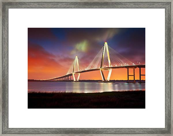 Charleston Sc - Arthur Ravenel Jr. Bridge Cooper River Framed Print