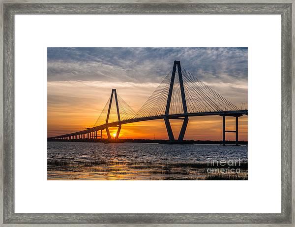 Charleston Sun Setting  Framed Print