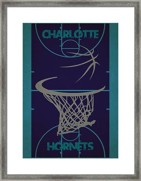 Charlotte Hornets Court Framed Print