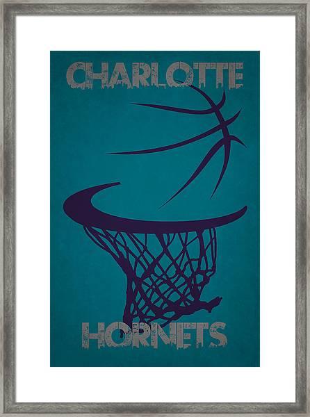 Charlotte Hornets Hoop Framed Print