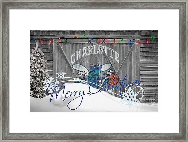 Charlotte Hornets Framed Print