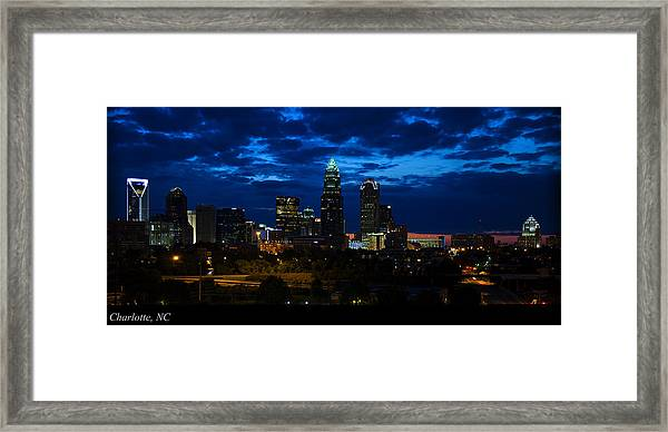 Charlotte North Carolina Panoramic Image Framed Print
