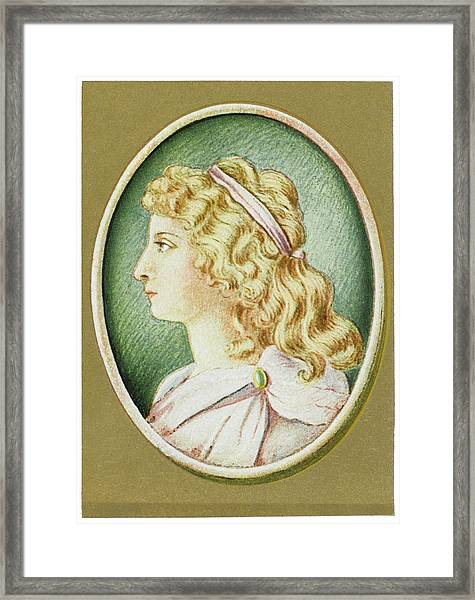 Charlotte Von Schiller  Wife Framed Print by Mary Evans Picture Library