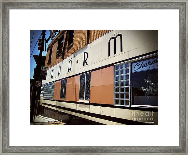 Charm Beauty Shop Pittsburgh Framed Print