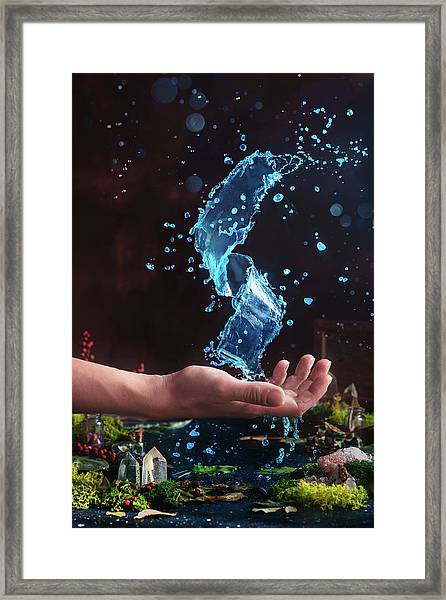 Charm Of Clear Water Framed Print