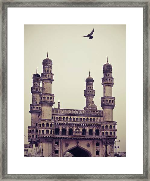 Charminar And The Pigeon Framed Print