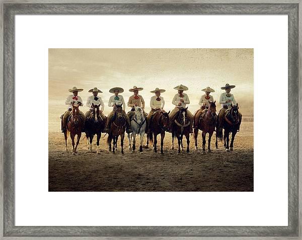 Charros Riding Framed Print