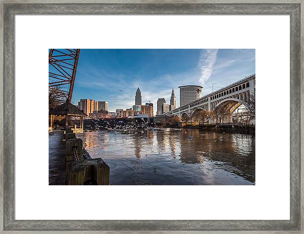 Chasing A Freighter 7 Framed Print