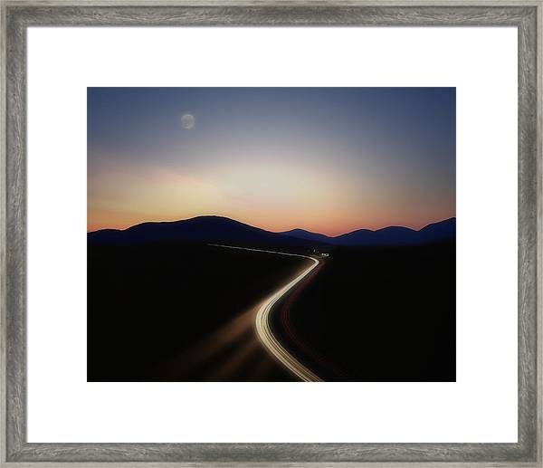 Chasing The Light Framed Print