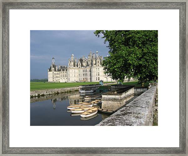 Chateau Chambord Boating Framed Print