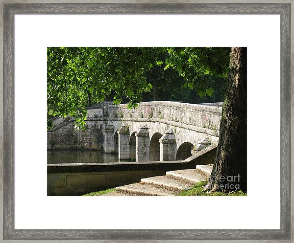 Chateau Chambord Bridge Framed Print