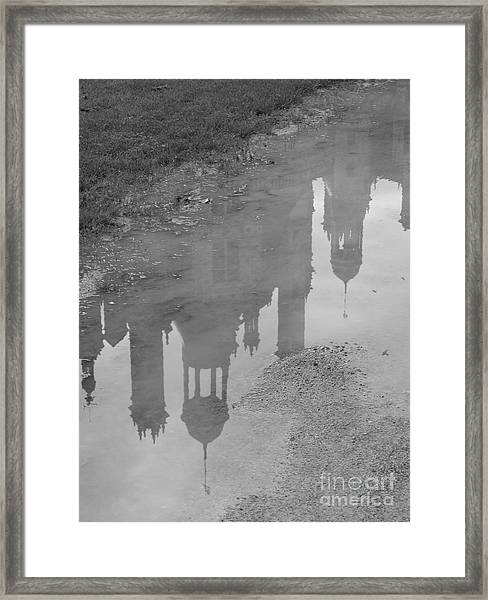 Chateau Chambord Reflection Framed Print