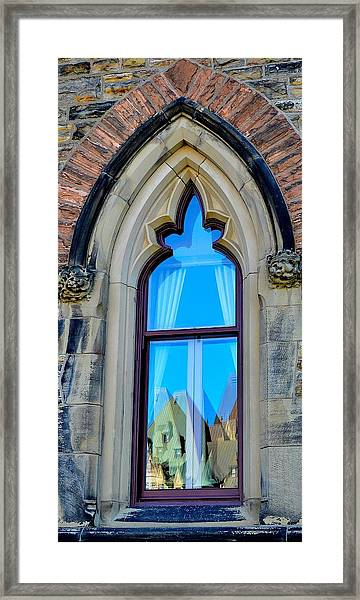 Chateau Laurier - Parlaiment Window - Reflection # 5 Framed Print