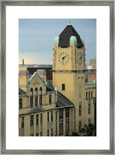Chatham County Courthouse Savannah Framed Print