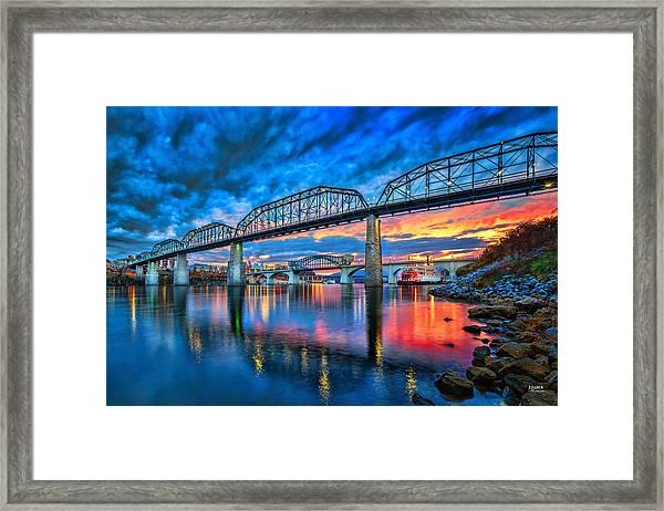 Chattanooga Sunset 3 Framed Print
