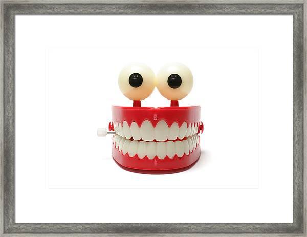 Chattering Teeth Framed Print by Blackred