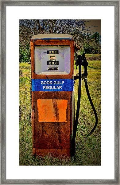 Cheap Gas Framed Print
