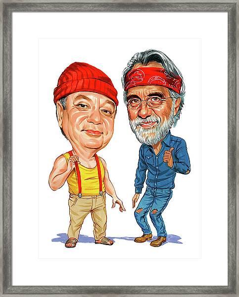 Cheech Marin And Tommy Chong As Cheech And Chong Framed Print
