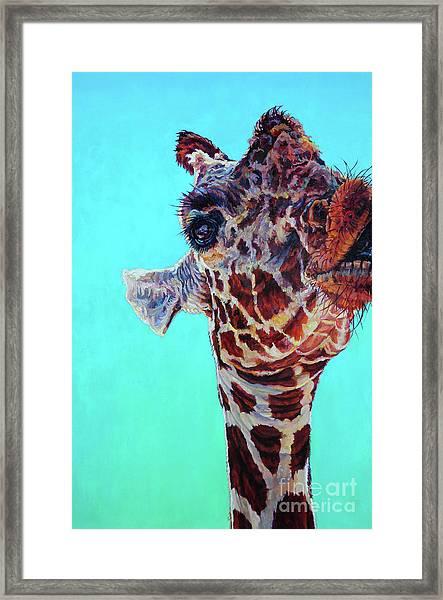 Cheeky Gina Framed Print