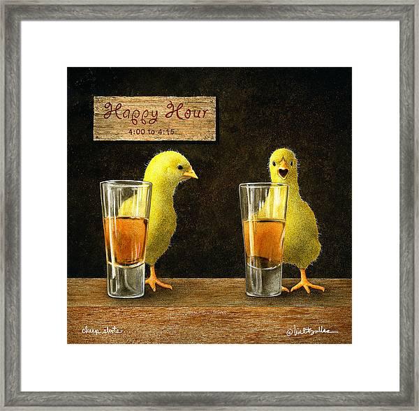 Cheep Shots... Framed Print