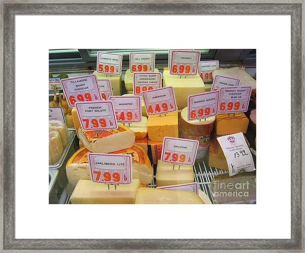 Cheese Display Framed Print