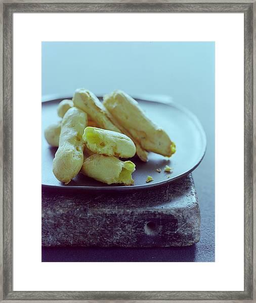 Cheese Puffs Framed Print