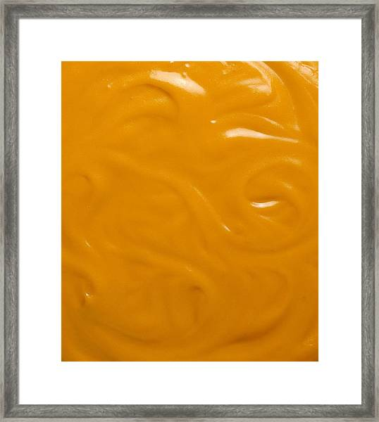 Cheese Sauce Framed Print by Jupiterimages
