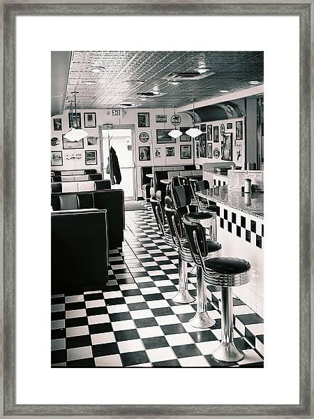 Cheeseburger And A Malt Framed Print