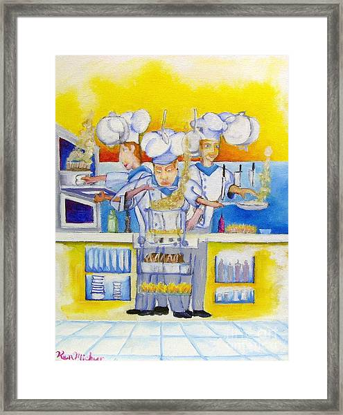 Chef's Kitchen Framed Print by Kenneth Michur