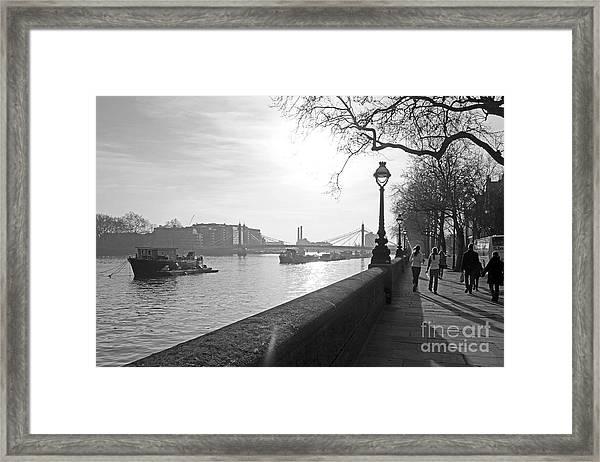 Chelsea Embankment London Uk 3 Framed Print