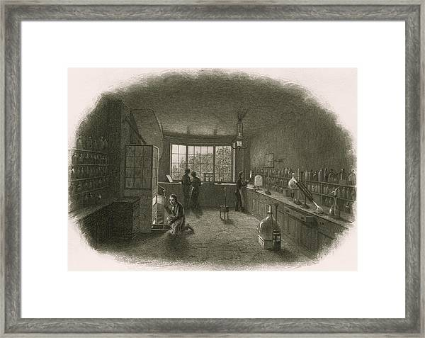 Chemistry Laboratory Framed Print by Sheila Terry/science Photo Library