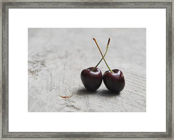 Cherry Duo Framed Print