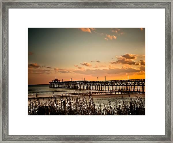 Cherry Grove Pier Myrtle Beach Sc Framed Print