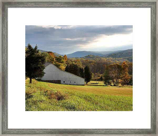 Cherry Valley Farm Framed Print