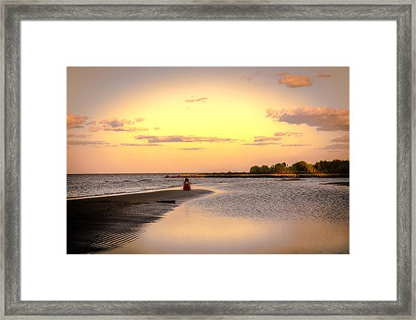 Chesapeake Bay Sunset Framed Print