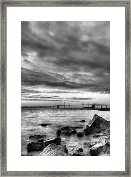Chesapeake Mornings Bw Framed Print