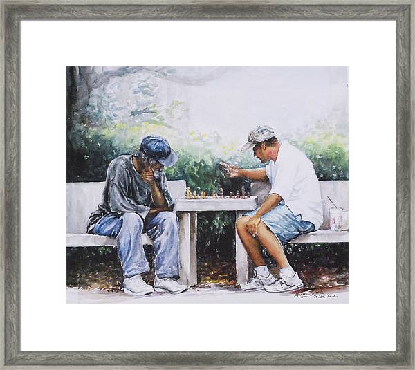 Chess Players Framed Print