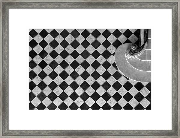Chessboard Staircase Framed Print