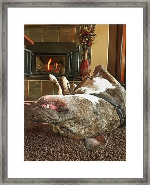 Chestnuts Roasting On An Open Fire  Framed Print