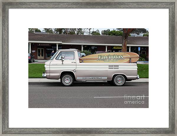 Chevrolet Corvair 95 Open Top Van 5d24225 Framed Print by Wingsdomain Art and Photography