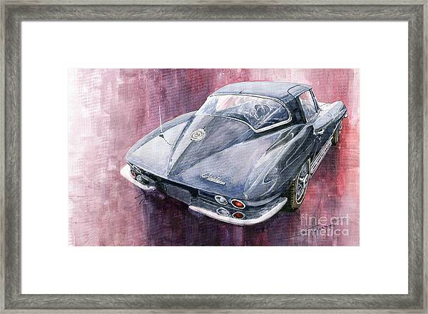 Chevrolet Corvette Sting Ray 1965 Framed Print